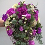 Brautbukett violett