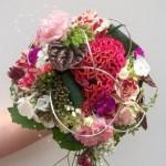 Brautstrauß mit Celosia