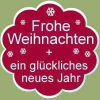 Frohe Weihnachten, gesundes neues Jahr