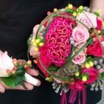 Brautstrauß in pink/rosé