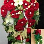 Brautstrauß rot - weiß